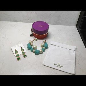 Kate Spade Drop Earrings and Bracelet